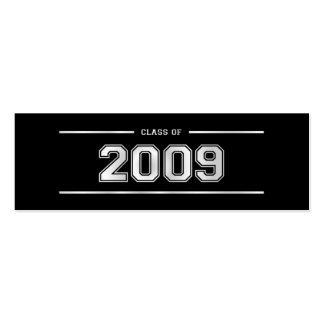 Graduation Bookmark Cards - 2009 - Varsity Silver Business Card