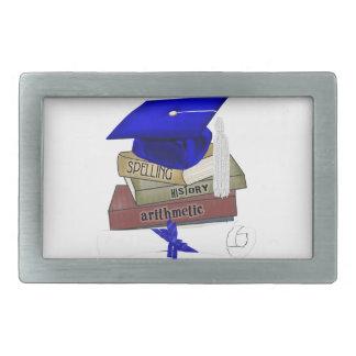 Graduation Books Cap and Diploma, Blue Belt Buckle
