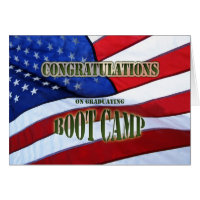 Graduation Boot Camp Congratulations Card