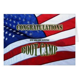 Graduation Boot Camp Congratulations Greeting Card