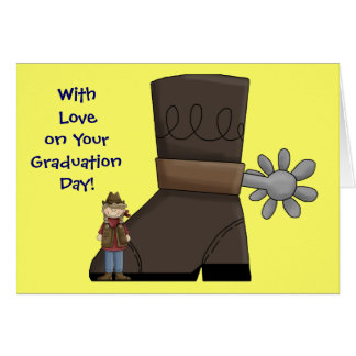 Graduation Boot & Spur - Western Greeting Card