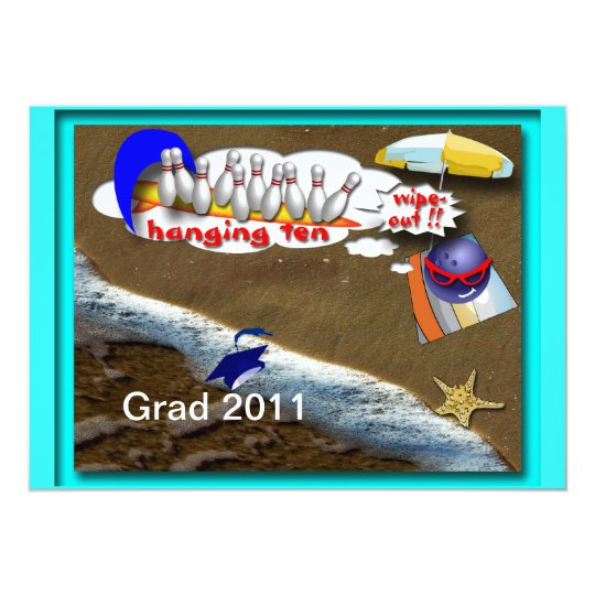 Graduation Bowling Party Invitations Customizable