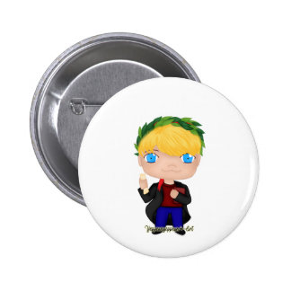 Graduation Boy Blonde (A) Button