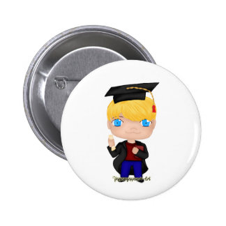 Graduation Boy Blonde (B) Pinback Button