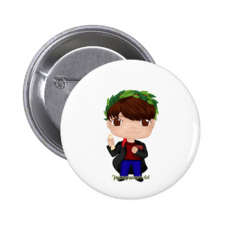 Graduation Boy Brown (A) Pinback Button