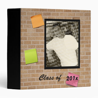 Graduation Brick Wall Photo Keepsake Binder