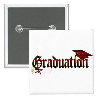 Graduation Cap and Diploma Buttons