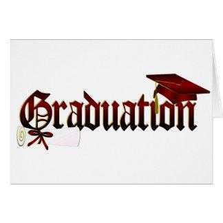 Graduation Cap and Diploma Card