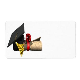 Graduation Cap And Diploma Shipping Labels