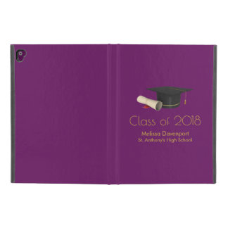 "Graduation Cap and Diploma on Purple Class of 20XX iPad Pro 9.7"" Case"