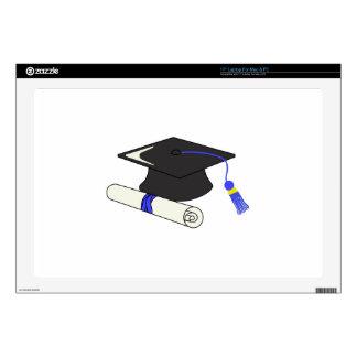 "Graduation Cap And Diploma Skin For 17"" Laptop"