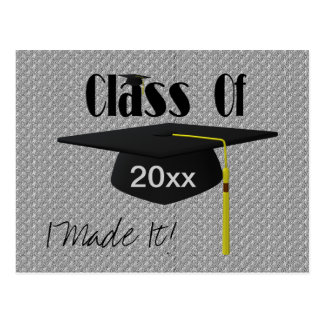 Graduation Cap And Tassel I Made It Funny Postcard