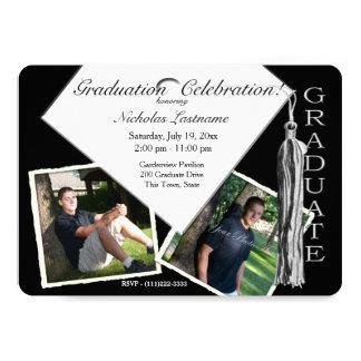 Graduation Cap and Tassel with Photos Card