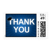 graduation cap : bold thank you postage