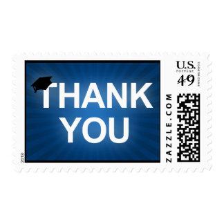 graduation cap : bold thank you postage stamp