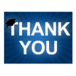 graduation cap : bold thank you postcard