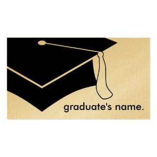 graduation cap business card
