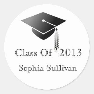 Graduation Cap Class of 2014 Sticker Sheet Names
