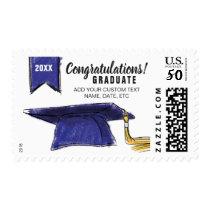 Graduation Cap Congrats Grad Class of 2018 Blue Postage