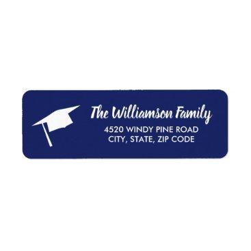 Beach Themed Graduation Cap Custom Color Return Address Label