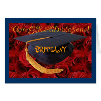 Graduation Cap-Customize Name of Graduate Card