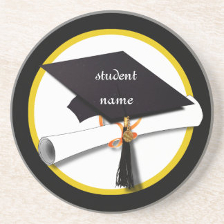 Graduation Cap & Diploma 1 Drink Coaster