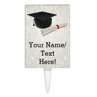 Graduation Cap Diploma Customizable Cake Topper
