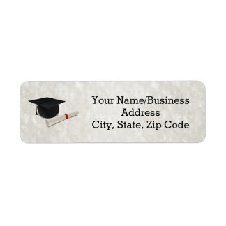 Graduation Cap Diploma Customizable Label