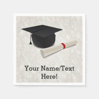 Graduation Cap Diploma Customizable Paper Napkin