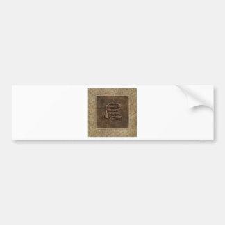Graduation Cap & Diploma, Graduation Word Design Bumper Sticker