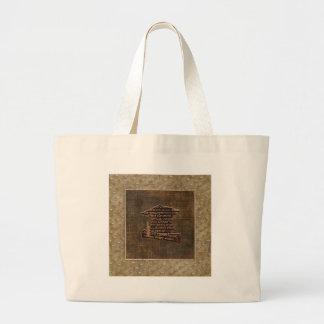 Graduation Cap & Diploma, Graduation Word Design Large Tote Bag