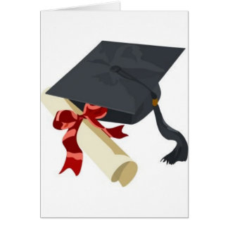 Graduation Cap & Diploma Greeting Card