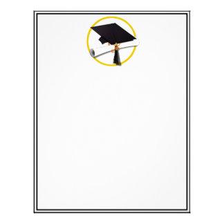 Graduation Cap & Diploma Letterhead