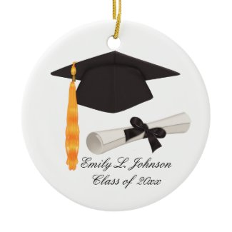 Graduation Cap & Diploma Photo Graduation Keepsake ornament