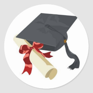 Graduation Cap Diploma Sticker