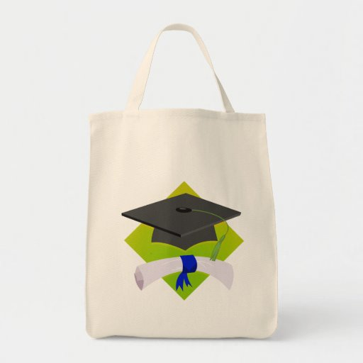Graduation Cap & Diploma Tote Bags
