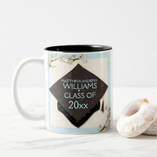 Graduation Cap Elegant Grad Keepsake Two-Tone Coffee Mug