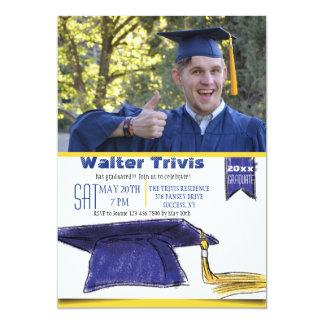 Graduation Cap Photo Invitation