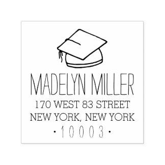 Graduation Cap Return Address Stamp