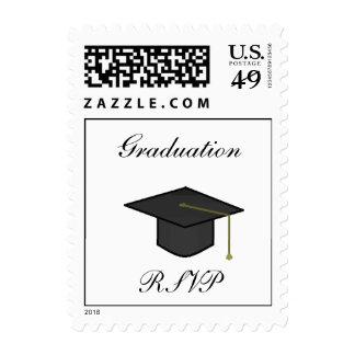 Graduation Cap RSVP -postage stamps