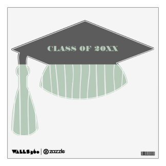 Graduation Cap Shape Personalized Wall Decals
