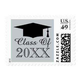 Graduation cap stamps   Class of graduate party