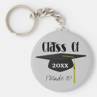 Graduation Cap Tassel I Made It Funny Keychain
