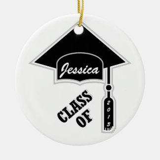 Graduation Cap Template Ceramic Ornament