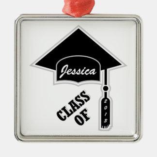 Graduation Cap Template Metal Ornament