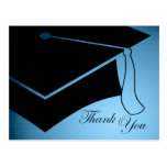 graduation cap : thank you postcard