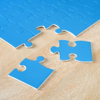 Graduation Cap w/Diploma - Blue Background Puzzles