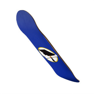 Graduation Cap w/Diploma - Dark Blue Background Custom Skateboard
