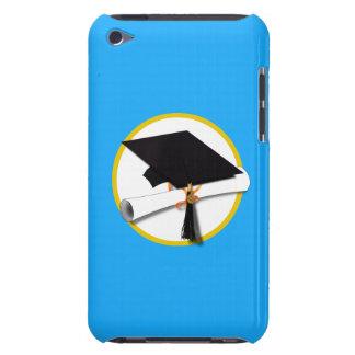 Graduation Cap w/Diploma - Light Blue Background iPod Touch Case-Mate Case