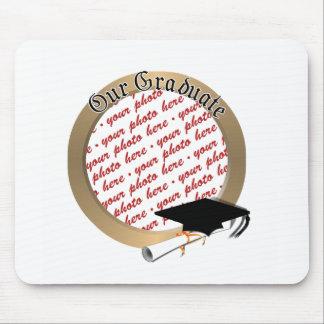 Graduation Cap w/Gold Frame (1) Mouse Pad